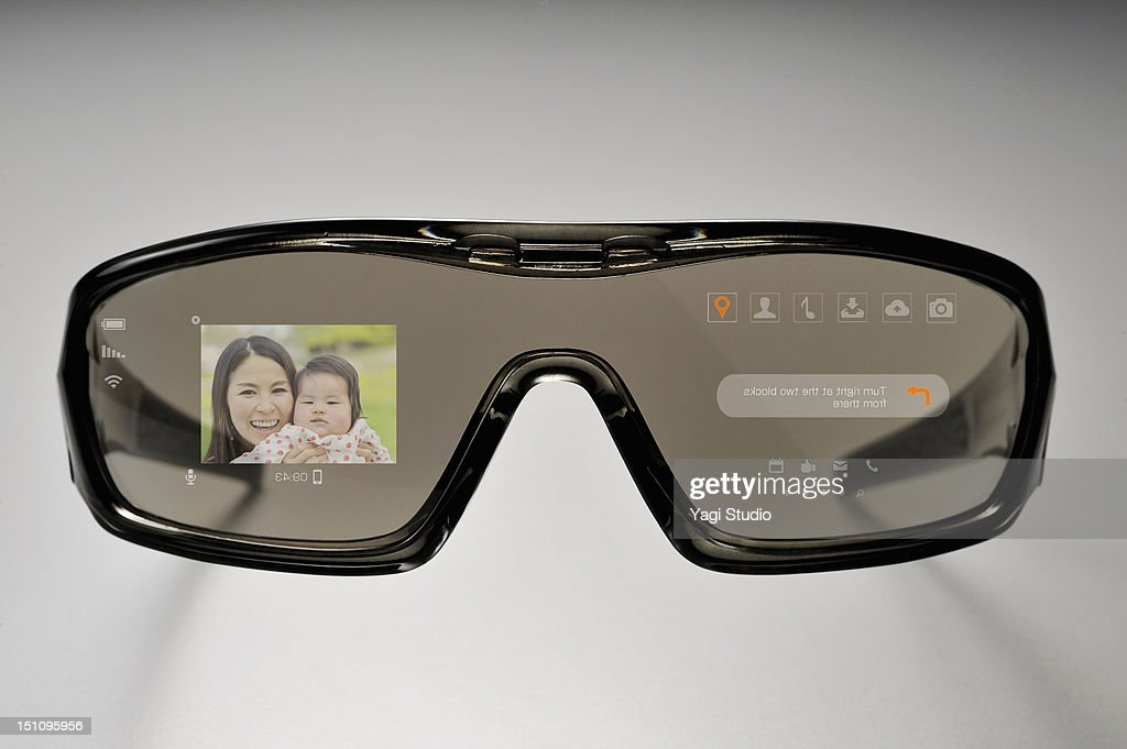 Futuristic glasses Phone : Stock Photo