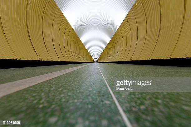 Futuristic looking tunnel