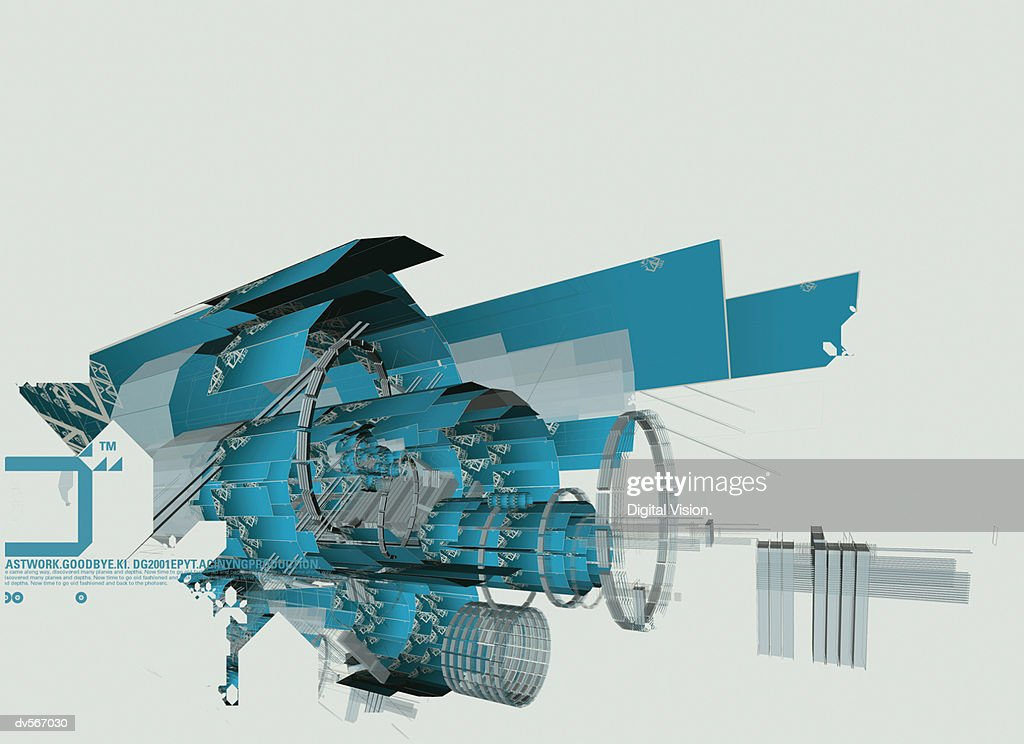 Futuristic Mechanical Abstract : Stock Photo
