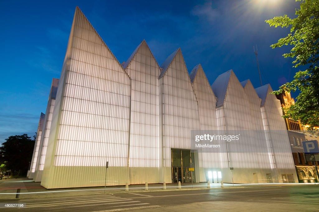 Futuristic office building in Szczecin Philharmonic : Stock Photo