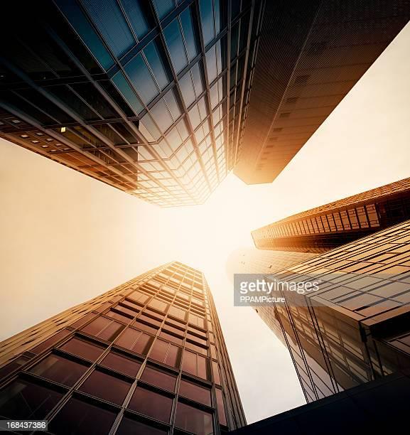 Futuristic office buildings