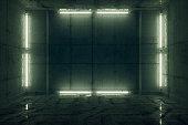 Futuristic prison cell.