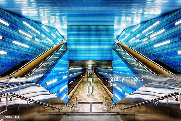 Futuristic Subway Station
