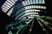 'Futuristic Underground Station in Canary Wharf, London'