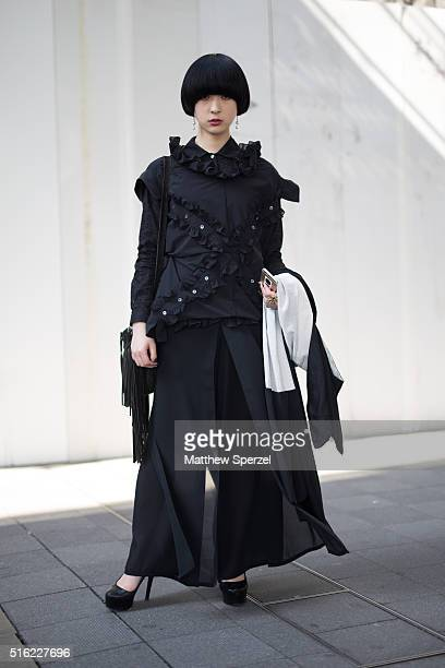 Fuuka Shimada attends the INPROCESS show during Tokyo Fashion Weekon March 17 2016 in Tokyo Japan
