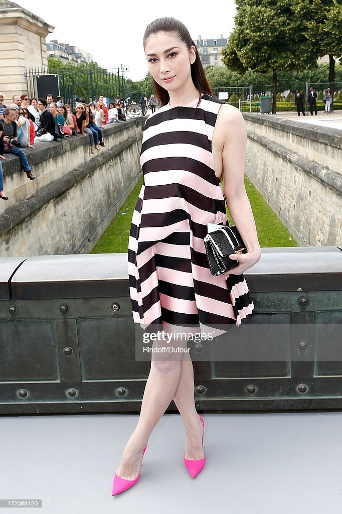 Fuyuko Matsui arriving at the Christian Dior show as part of Paris Fashion Week Haute-Couture Fall/Winter 2013-2014 at on July 1, 2013 in Paris, France.