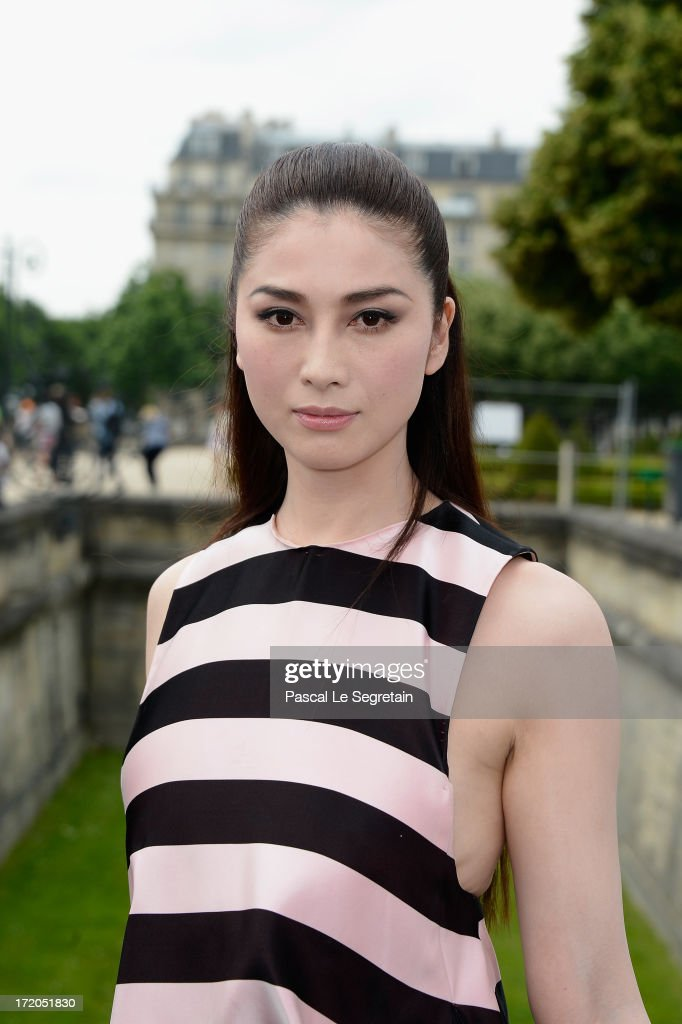 Fuyuko Matsui attends the Christian Dior show as part of Paris Fashion Week Haute-Couture Fall/Winter 2013-2014 at Hotel Des Invalides on July 1, 2013 in Paris, France.