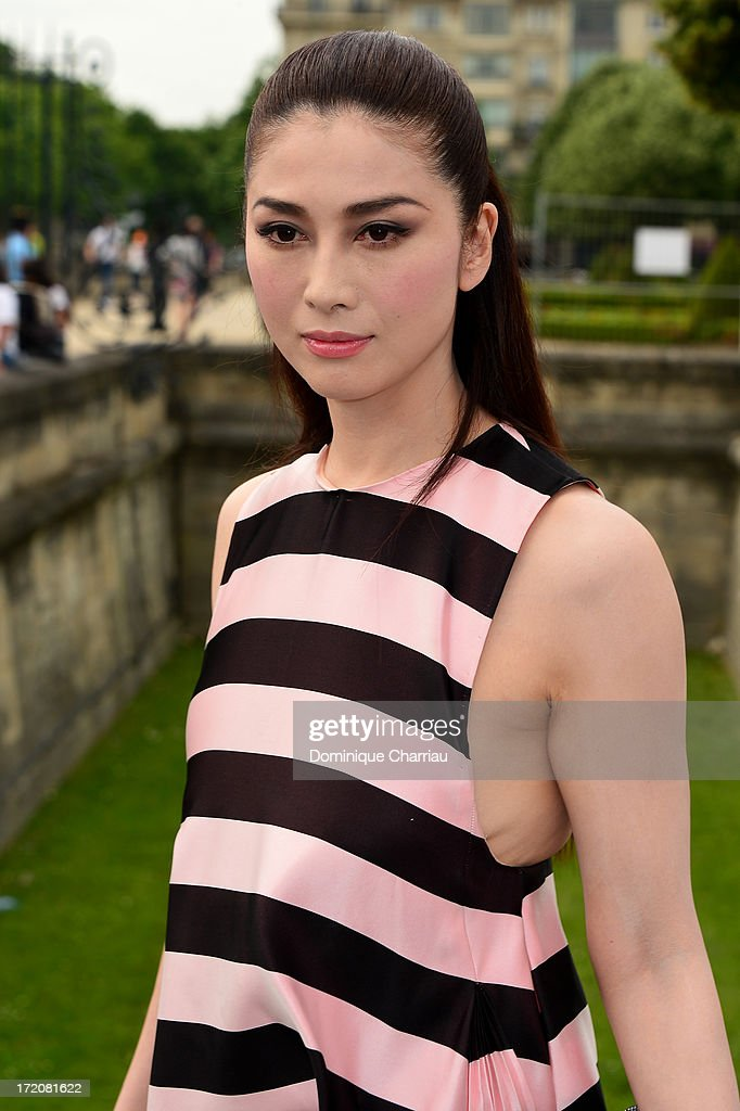 Fuyuko Matsui attends the Christian Dior show as part of Paris Fashion Week Haute-Couture Fall/Winter 2013-2014 at on July 1, 2013 in Paris, France.