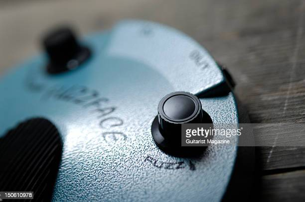 Fuzz button on a Dunlop FuzzFace effects pedal used during a guitar tone shoot April 6 2011