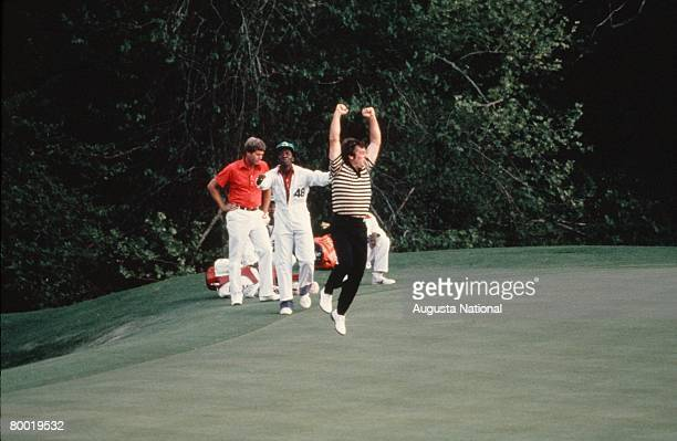 Fuzzy Zoeller Celebrates After His Win In The 1979 Masters Tournament