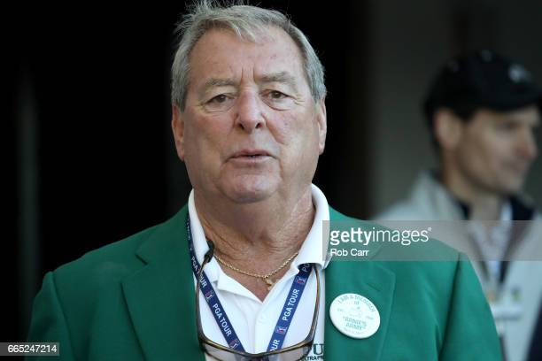 Fuzzy Zoeller Masters champion attends the first tee ceremony prior to the first round of the 2017 Masters Tournament at Augusta National Golf Club...