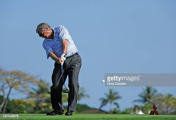 KA'UPULEHUKONA HI JANUARY 20 Fuzzy Zoeller plays from the second tee during the first round of the Mitsubishi Electric Championship at Hualalai Golf...