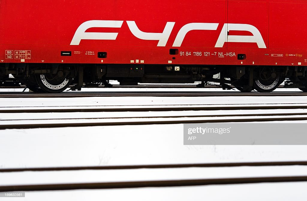 Fyra trains are parked at the shunting yard in Watergraafsmeer, Amsterdam on January 21, 2013. The high-speed trains are out of action because of technical problems.