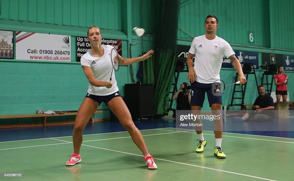Gabby Adcock and Christopher Adcock of Team GB during the Announcement of Badminton Athletes Named in Team GB for the Rio 2016 Olympic Games at the National Badminton Centre on June 27, 2016 in Milton Keynes, England.