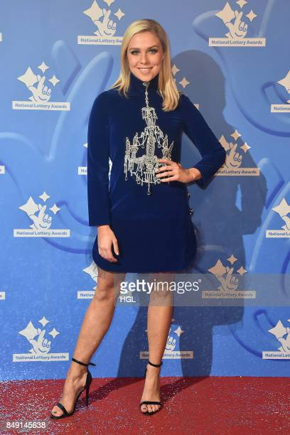 Gabby Allen arriving at The National Lottery Awards 2017 at The London Studios on September 18 2017 in London England