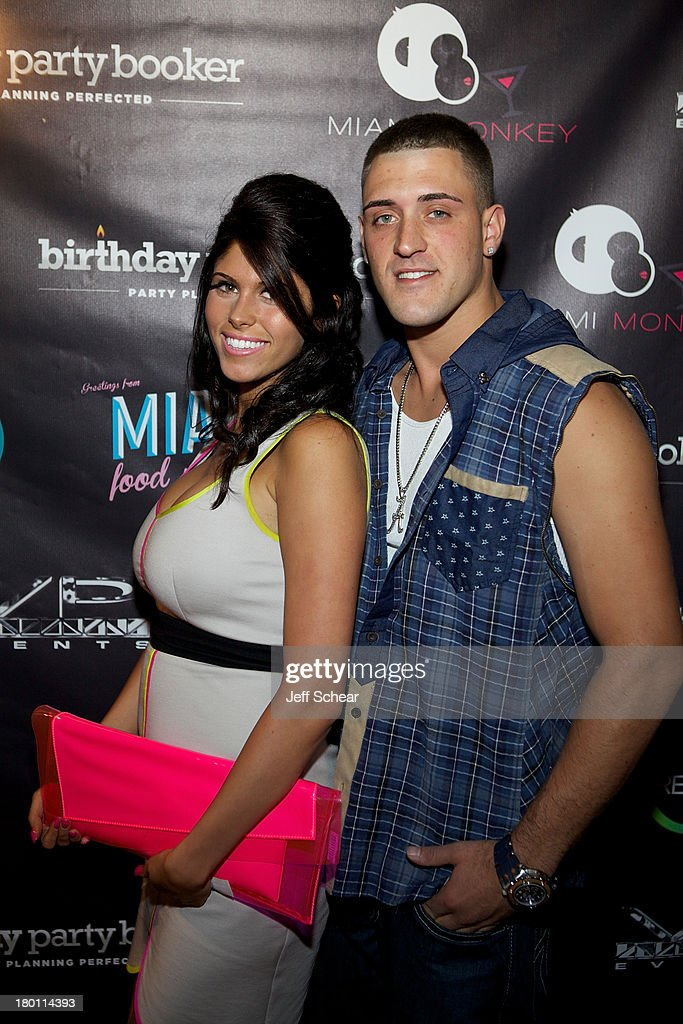 Gabby and AJ attend the MIAMI MONKEY Premiere Party Presented By JustJenn Productions And The Weinstein Company at 49 Grove on September 8, 2013 in New York City.