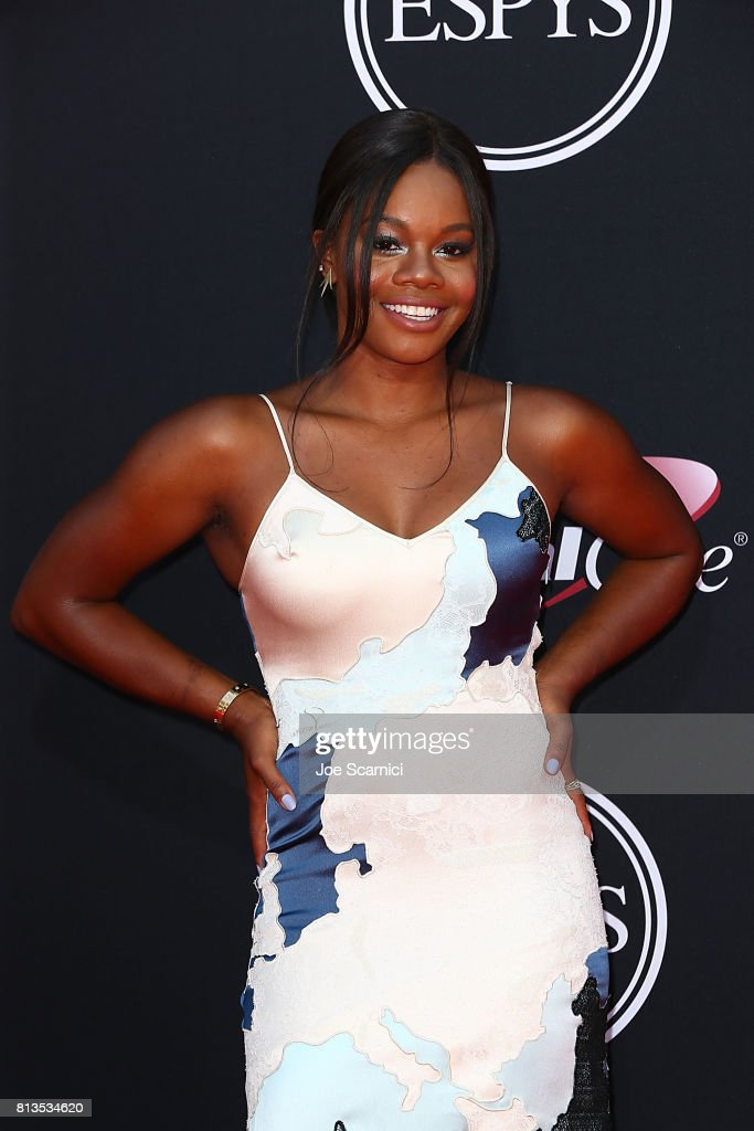 Gabby Douglas arrives at the 2017 ESPYS at Microsoft Theater on July 12, 2017 in Los Angeles, California.