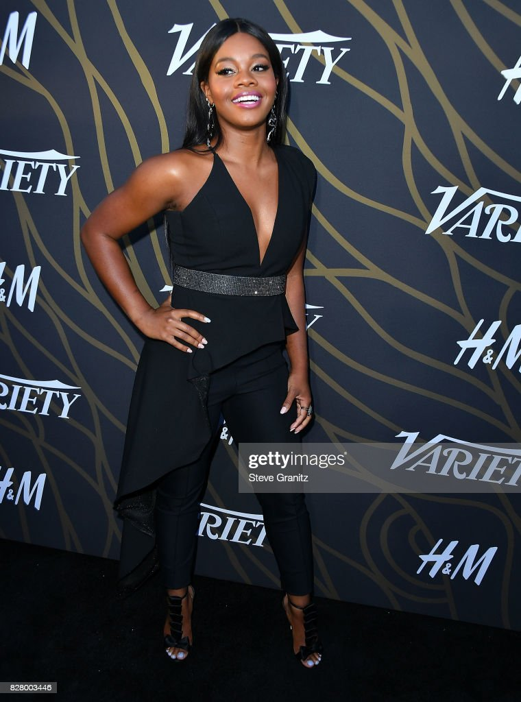 Gabby Douglas arrives at the Variety Power Of Young Hollywood at TAO Hollywood on August 8, 2017 in Los Angeles, California.