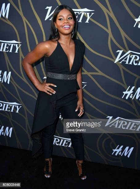 Gabby Douglas arrives at the Variety Power Of Young Hollywood at TAO Hollywood on August 8 2017 in Los Angeles California