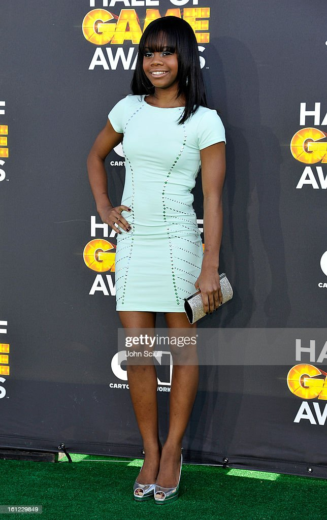 Gabby Douglas attends the Third Annual Hall of Game Awards hosted by Cartoon Network at Barker Hangar on February 9, 2013 in Santa Monica, California. 23270_002_JS_0385.JPG