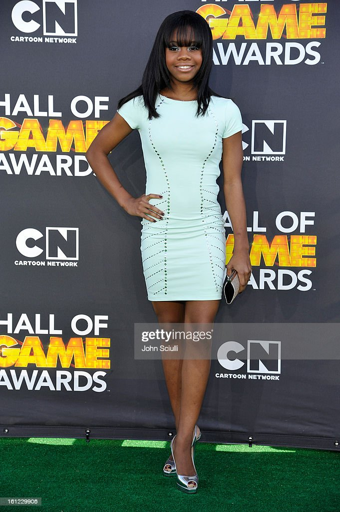 Gabby Douglas attends the Third Annual Hall of Game Awards hosted by Cartoon Network at Barker Hangar on February 9, 2013 in Santa Monica, California. 23270_002_JS_0390.JPG
