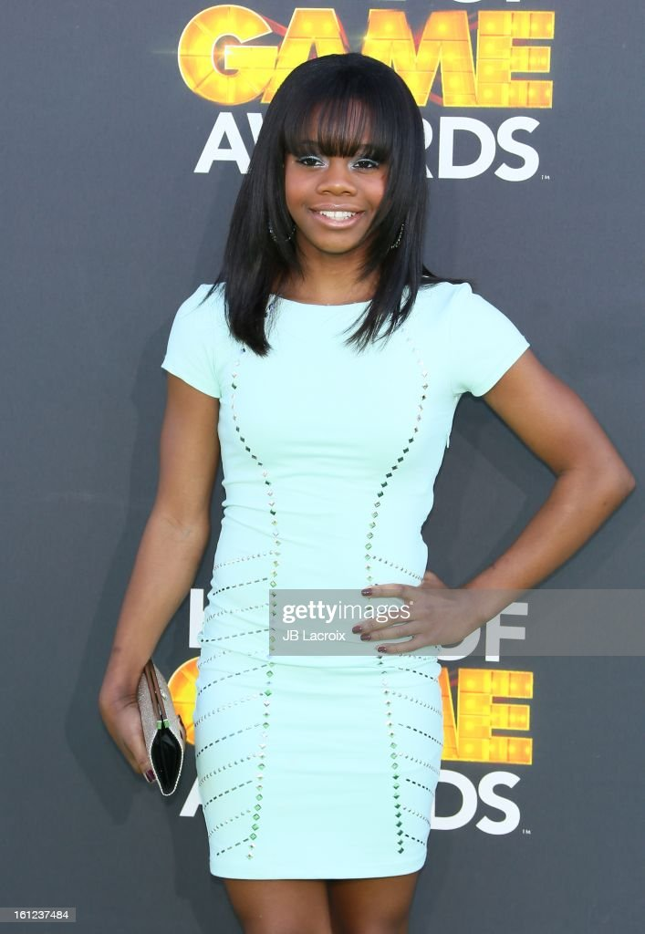 Gabby Douglas attends the Third Annual Hall of Game Awards hosted by Cartoon Network at Barker Hangar on February 9, 2013 in Santa Monica, California.