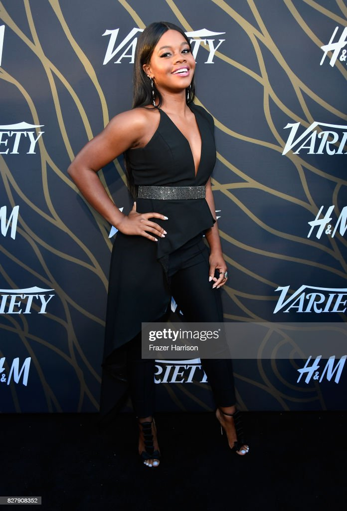 Gabby Douglas attends Variety Power of Young Hollywood at TAO Hollywood on August 8, 2017 in Los Angeles, California.