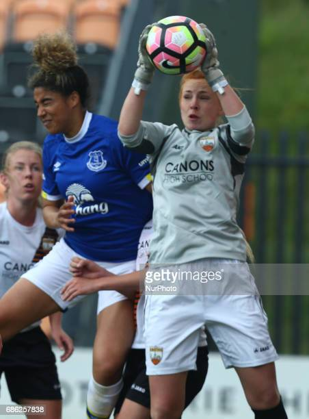 LR Gabby George of Everton Ladies and Sophie Harris of London Bees during Women's Super League 2 Spring Series match between London Bees against...