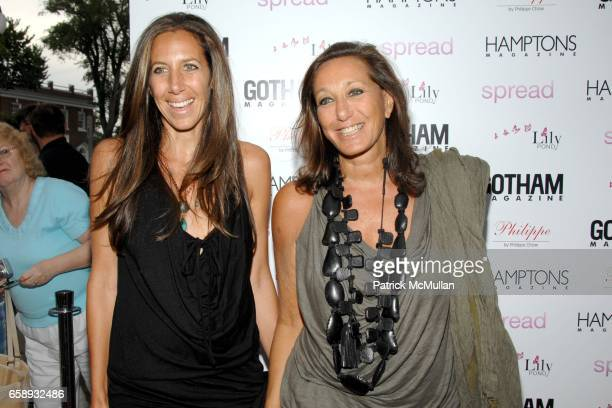 Gabby Karan De Felice and Donna Karan attend 'SPREAD' Premiere with GOTHAM HAMPTONS magazines at UA East Hampton Theater on August 8 2009 in East...