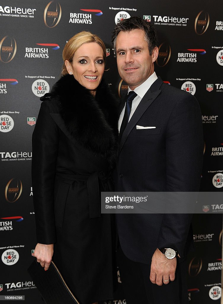 Gabby Logan and Kenny Logan (R) attend the inaugural Premiership Rugby Hall of Fame Ball at the Hurlingham Club on February 7, 2013 in London, England.