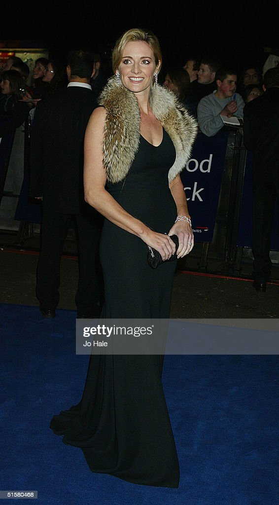 Gabby Logan arrives at the '10th Anniversary National Television Awards' at the Royal Albert Hall on October 26, 2004 in London. The star-studded awards ceremony awards prizes as voted for by members of the public.