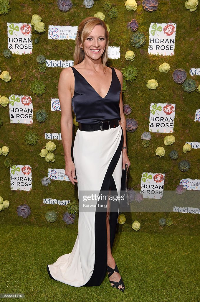 <a gi-track='captionPersonalityLinkClicked' href=/galleries/search?phrase=Gabby+Logan&family=editorial&specificpeople=706152 ng-click='$event.stopPropagation()'>Gabby Logan</a> arrives for The Horan And Rose event at The Grove on May 29, 2016 in Watford, England.