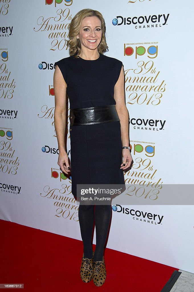Gabby Logan attends the Broadcasting Press Guild TV and Radio awards on March 14, 2013 in London, England.