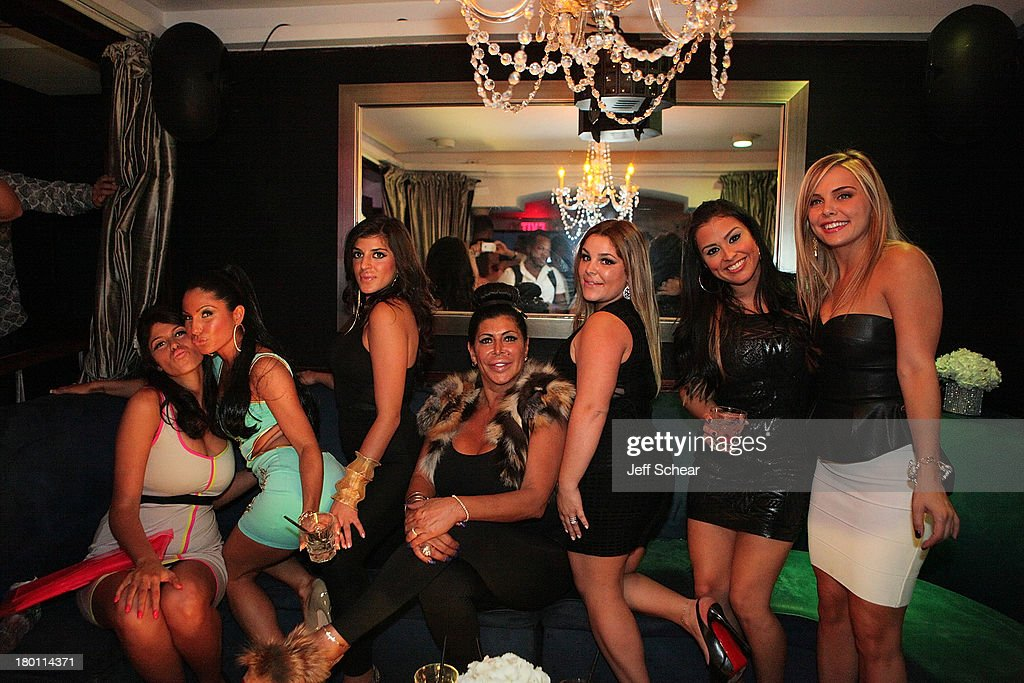 Gabby, Marissa, Raquel, Angela '<a gi-track='captionPersonalityLinkClicked' href=/galleries/search?phrase=Big+Ang&family=editorial&specificpeople=8749866 ng-click='$event.stopPropagation()'>Big Ang</a>' Raiola, Roxanne, Cristina and Ryan attend the MIAMI MONKEY Premiere Party Presented By JustJenn Productions And The Weinstein Company at 49 Grove on September 8, 2013 in New York City.