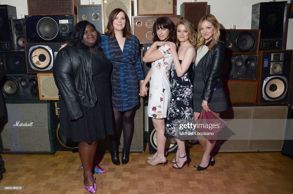 Gabby Sidibe, Joni Lefkowitz, Susanna Fogel, <a gi-track='captionPersonalityLinkClicked' href=/galleries/search?phrase=Gillian+Jacobs&family=editorial&specificpeople=4836757 ng-click='$event.stopPropagation()'>Gillian Jacobs</a>, and Abby Elliot attend the 'Life Partners' Premiere after party during the 2014 Tribeca Film Festival at Liberty Hall on April 18, 2014 in New York City.
