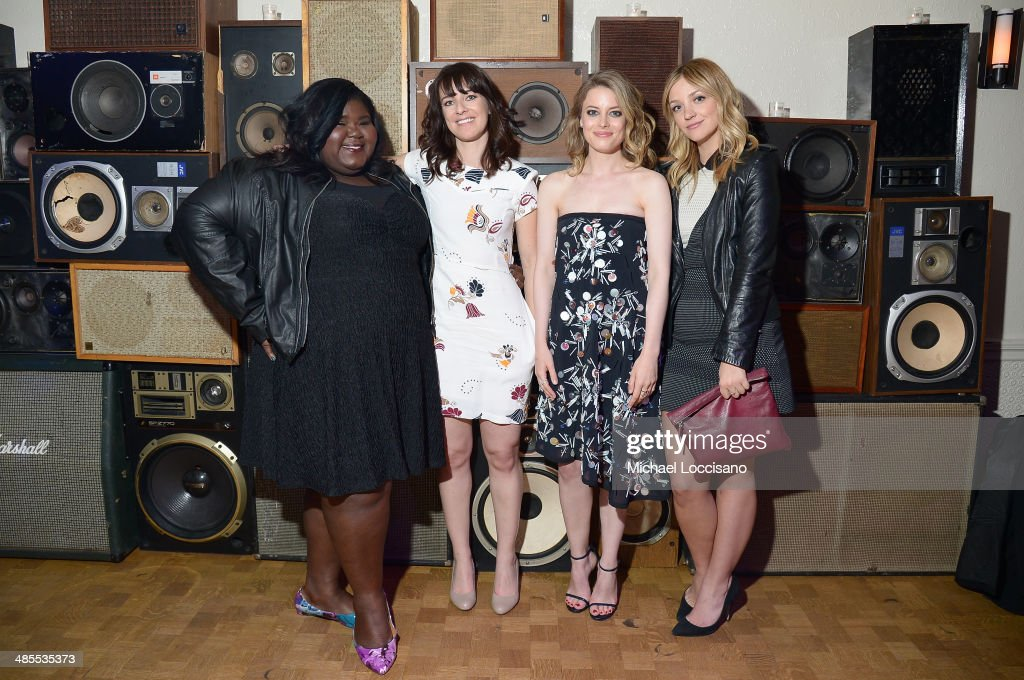 Gabby Sidibe, Susanna Fogel, <a gi-track='captionPersonalityLinkClicked' href=/galleries/search?phrase=Gillian+Jacobs&family=editorial&specificpeople=4836757 ng-click='$event.stopPropagation()'>Gillian Jacobs</a>, and Abby Elliot attend the 'Life Partners' Premiere after party during the 2014 Tribeca Film Festival at Liberty Hall on April 18, 2014 in New York City.