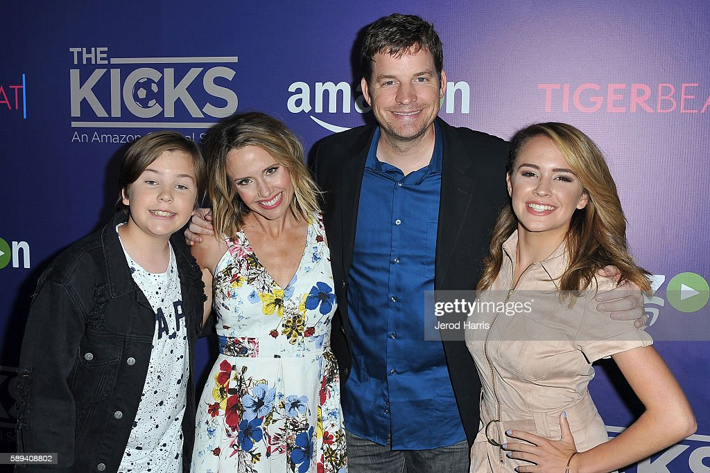 Gabe Eggerling Monica Lacy Tim Eggerling and Sixx Orange arrive at Amazon and Tiger Beat Magazine Celebrate the Premiere of 'The Kicks' at StubHub...