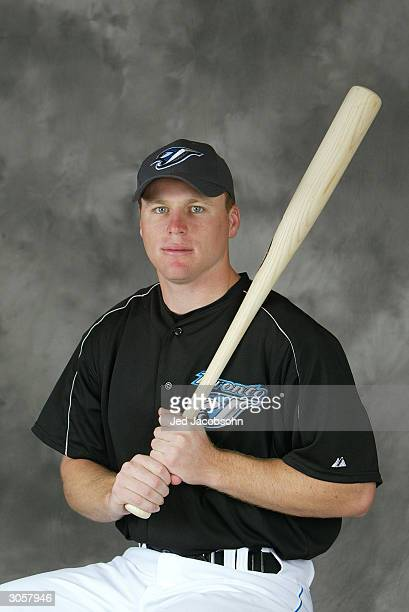 Gabe Gross of the Toronto Blue Jays poses for a portrait during Photo Day at their spring training facility on March 1 2004 in Duneiden Florida
