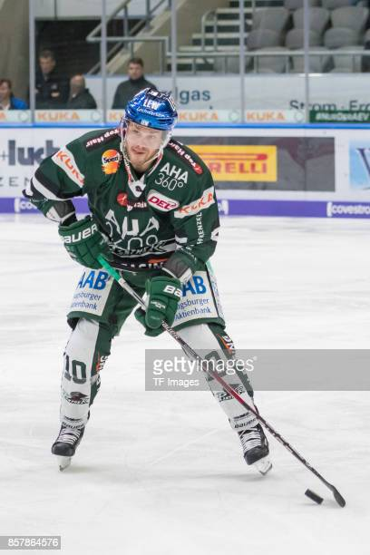 Gabe Guentzel of Augsburger Panther in action during the DEL match between Augsburger Panther and Iserlohn Roosters on September 29 2017 in Augsburg...