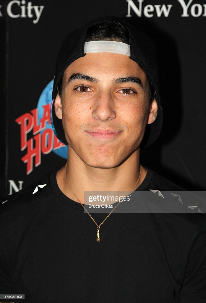 Gabe Morales of the group IM5 visits Planet Hollywood Times Square on July 29 2013 in New York City