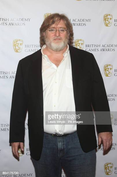 Gabe Newell attending the British Academy Video Games Awards at the London Hilton Park Lane London