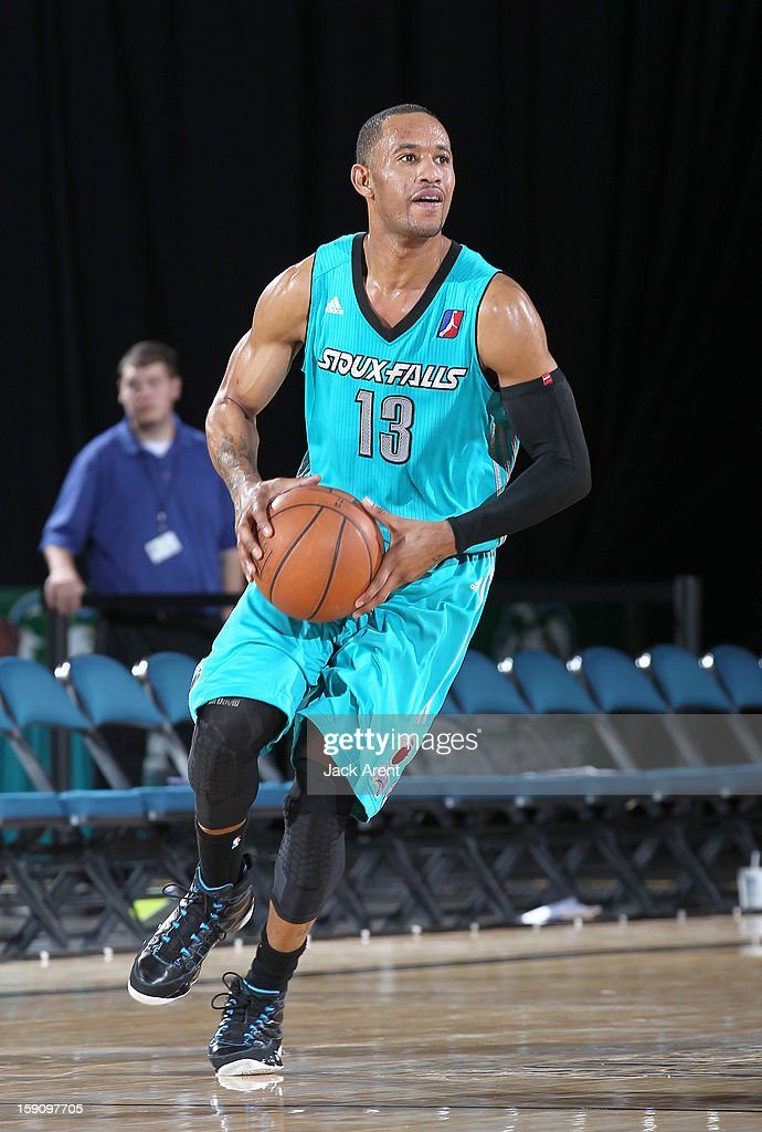 <a gi-track='captionPersonalityLinkClicked' href=/galleries/search?phrase=Gabe+Pruitt&family=editorial&specificpeople=2080035 ng-click='$event.stopPropagation()'>Gabe Pruitt</a> #13 of the Sioux Falls Skyforce passes the ball while against the Bakersfield Jam during the 2013 NBA D-League Showcase on January 7, 2013 at the Reno Events Center in Reno, Nevada.