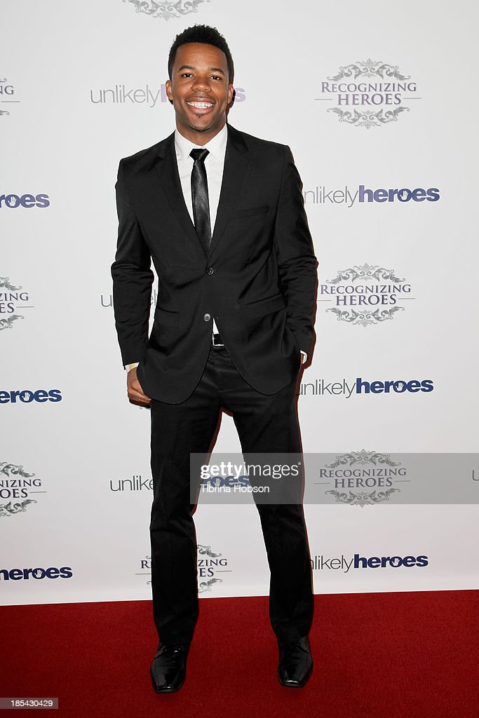 Gabe Roland attends at the Unlikely Heroes' recognizing heroes awards dinner And gala at W Hollywood on October 19, 2013 in Hollywood, California.