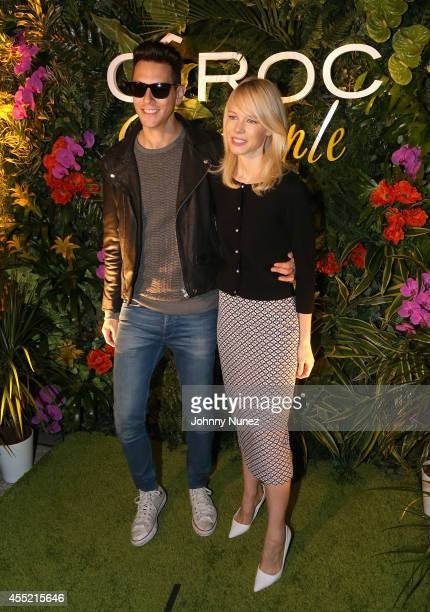 Gabe Saporta and designer Erin Fetherston attend CIROC Offical Toast Of MercedesBenz Fashion Week With Designer Erin Fetherston at Lincoln Center on...