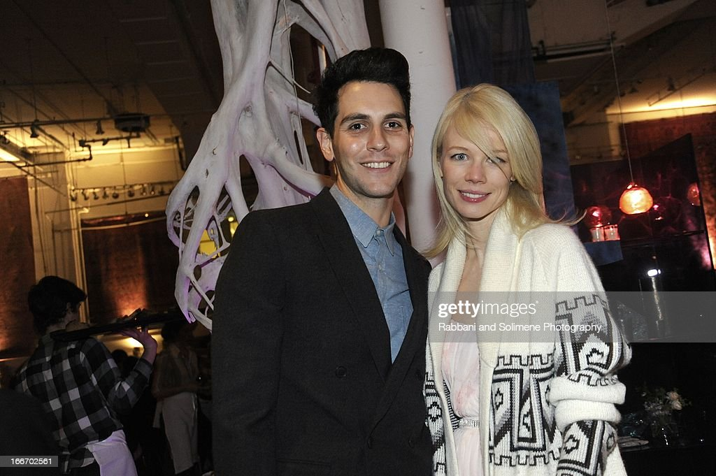 <a gi-track='captionPersonalityLinkClicked' href=/galleries/search?phrase=Gabe+Saporta&family=editorial&specificpeople=4214209 ng-click='$event.stopPropagation()'>Gabe Saporta</a> and Erin Fetherston attend the 2013 Art Production Fund Gala at ABC Home & Carpet on April 15, 2013 in New York City.