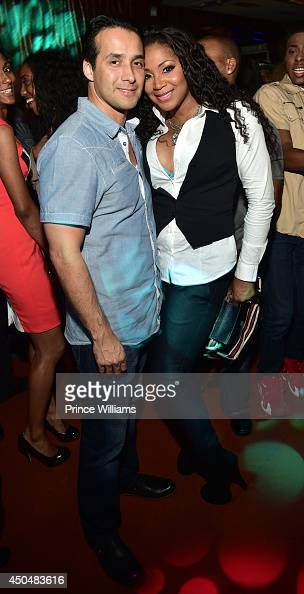 Gabe Solis and Trina Braxton attend the after party for the 'Think Like A Man Too' premiere at Suite Food Lounge on June 11 2014 in Atlanta Georgia