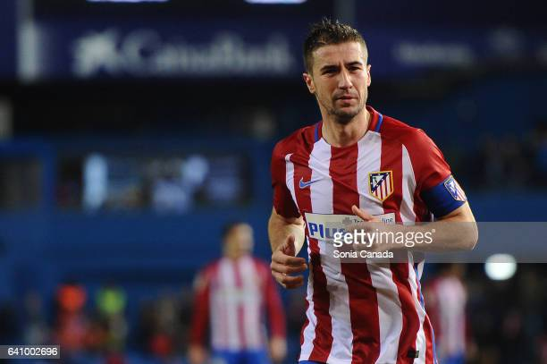 Gabi #14 of Atletico de Madrid during The La Liga match between Atletico Madrid v CD Leganes at Vicente Calderon on February 04 2017 in Madrid Spain