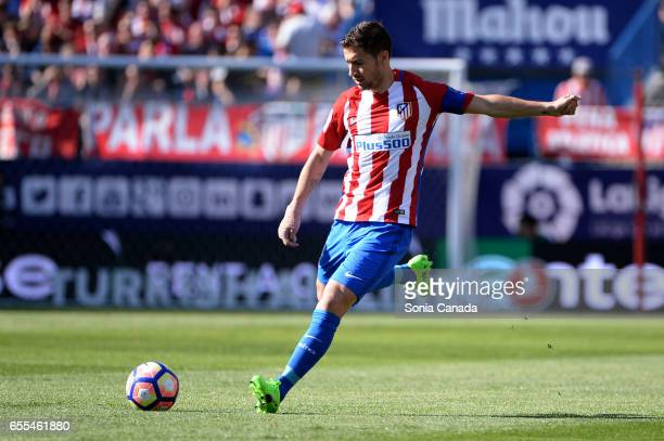Gabi #14 of Atletico de Madrid during The La Liga match between Atletico Madrid v Valencia FC at Vicente Calderon on March 19 2017 in Madrid Spain