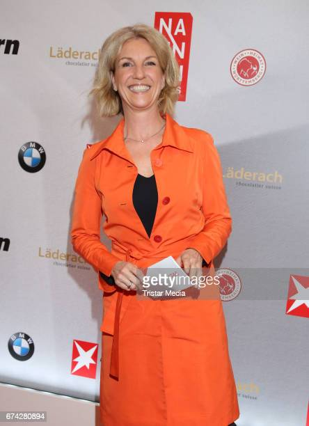 Gabi Bauer during the Henri Nannen Award red carpet arrivals on April 27 2017 in Hamburg Germany