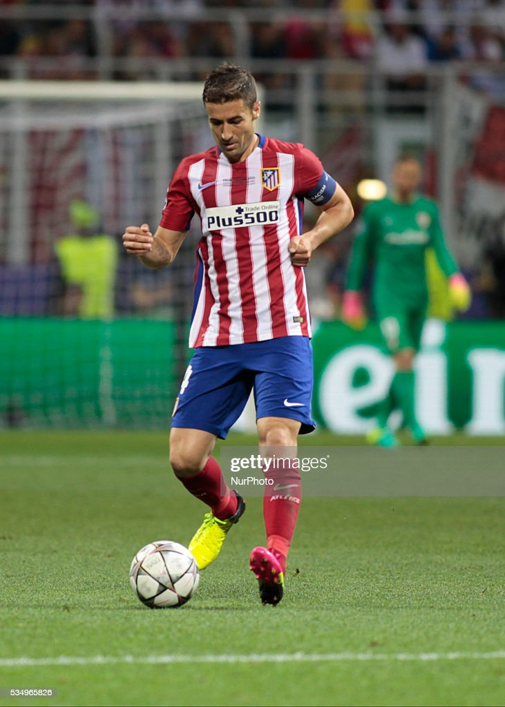 Gabi (14) during the Champions League final between Real Madrid CF and Club Atletico de Madrid at the Giuseppe Meazza Stafium of Milan on may 28, 2016 in Milan, Italy.